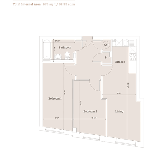metalworks serviced apartment Birmingham-floorplans- 19