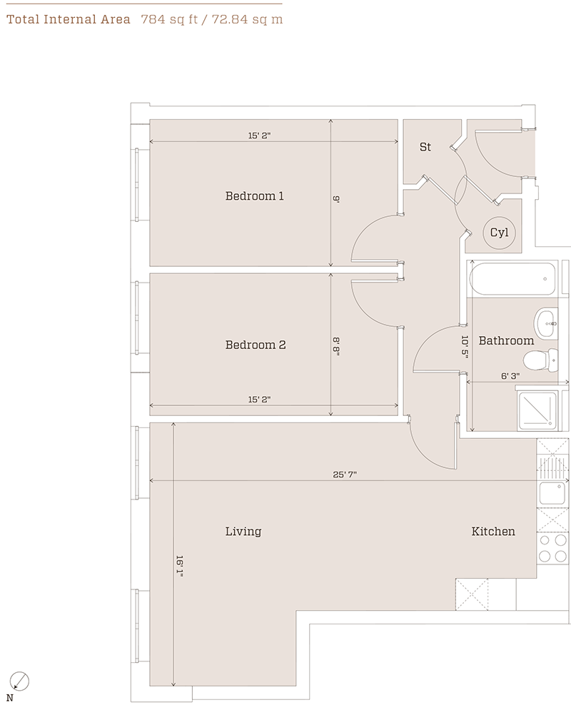 metalworks serviced apartment Birmingham-floorplans-